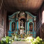 Wnętrze starego zabytkowego kościoła