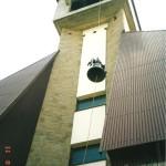 Dzwon na cześc Matktki Bożej Częstochowskiej w Kaplicy Na Brzegu - montaż