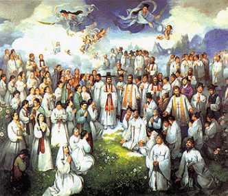 święci męczennicy Andrzej Kim Tae-gŏn, prezbiter, Paweł Chŏng Ha-sang i Towarzysze