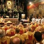 Kaplica Cudownego Obrazu. Msza św. z udziałem księży jubilatów w 55. rocznicę(Brylantową) święceń kapłańskich przewodniczy jubilat abp Stanisław Nowak