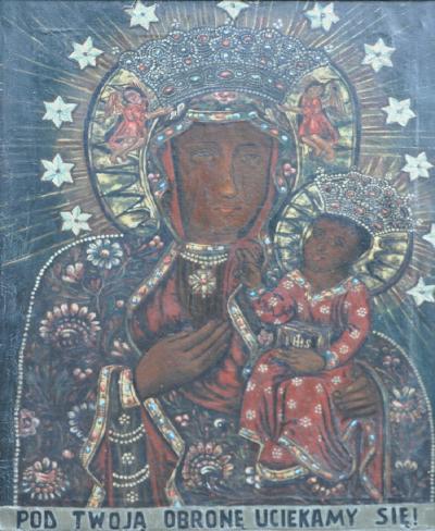 Matka-Boska-Częstochowska-w-Kaplicy-Na-Brzegu-Kasina-Wielka