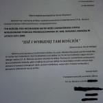 Kopia listu przesłanego od Rodziny Ś.P. ks. kanonika Mariana Juraszka