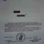 kopia listu – odpowiedź Kurii Krakowskiej