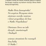 Obrazek Matka Boska Częstochowska w Kaplicy Na Brzegu w Kasinie Wielkiej - Modlitwa