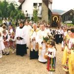 Kasina Wielka Kaplica Na Brzegu - peregrynacja obrazu Matki Boskiej Częstochowskiej 23 sierpnia 1999 rok