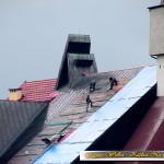 """""""UTYLIZACJA"""" zdrowej blachy miedzianej na nowym kościele w Kasinie Wielkiej - 2015 rok"""