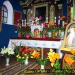 Lipiec 2017 rok - kwiaty z ogródków domowych dla Matki Boskiej Jasnogórskiej