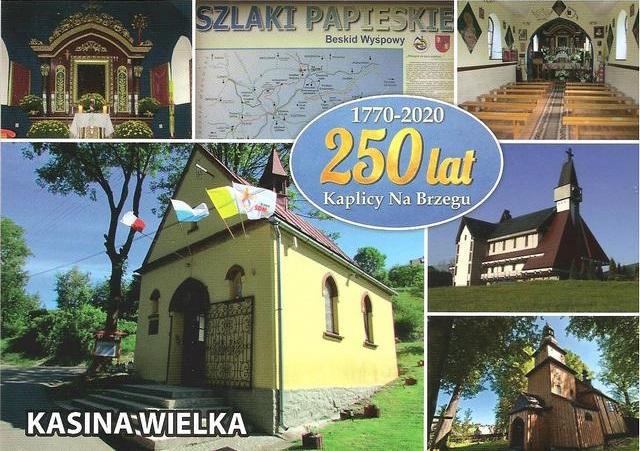 250. rocznica Kaplicy Na Brzegu - pocztówka