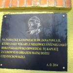Pamięci św. Jana Pawła II, który nawiedzał Kaplicę Na Brzegu z cudownym obrazem Matki Boskiej Częstochowskiej