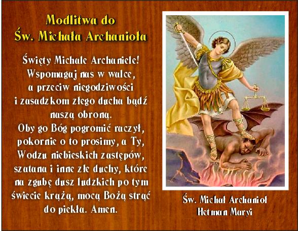 Modlitwa do św. Michała Archanioła Kaplica Na Brzegu