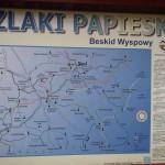 Szlaki Papieskie Mapa Beskid Wyspowy Kasina Wielka Kaplica Na Brzegu