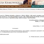 Oświadczenie ks. Wiesława Maciaszka